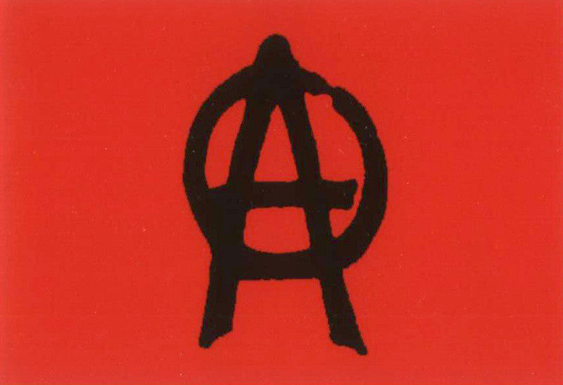 Anarchy Poster Flag Red Punk Rock Logo Tapestry