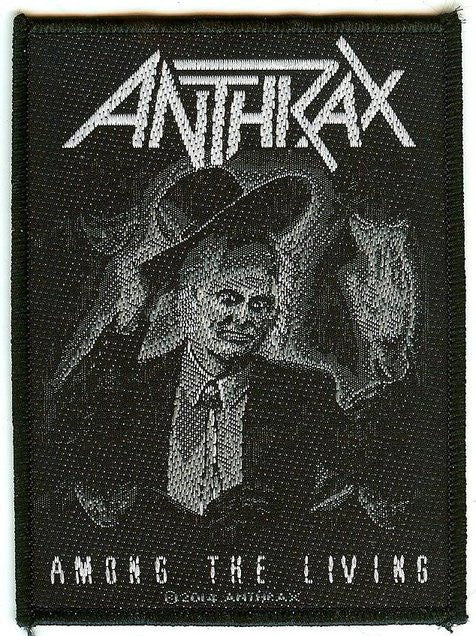 Anthrax Sew On Patch Among The Living Logo