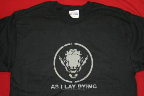 As I Lay Dying T-Shirt Sheep Logo Black Size Medium New