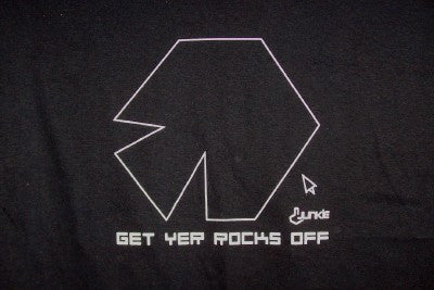 Asteroids T-Shirt Get Yer Rocks Off Black Size Large