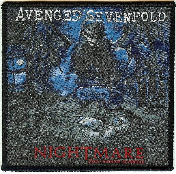 Avenged Sevenfold Sew On Patch Nightmare Logo