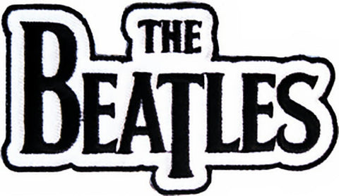 The Beatles Iron-On Patch Black Letters Logo