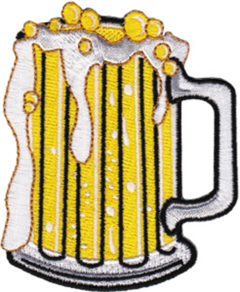 Beer Mug Iron-On Patch