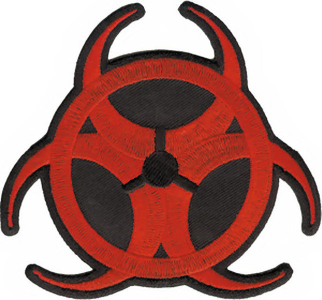 Biohazard Iron-On Patch Red Symbol Logo