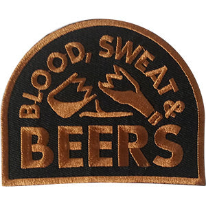 Blood Sweat And Beers Iron-On Patch