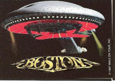 Boston Vinyl Sticker Spaceship Logo