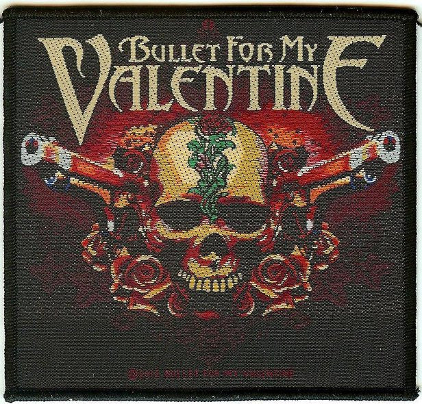 Bullet For My Valentine Sew On Patch Pistols Skull Logo