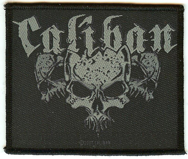 Caliban Sew On Patch Skulls Logo