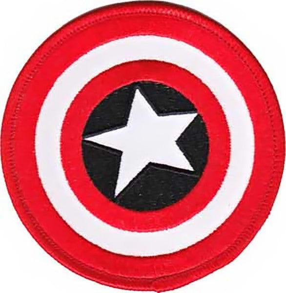 Captain America Iron-On Patch Round Shield Logo