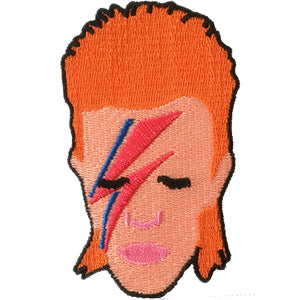 David Bowie Iron-On Alladin Sane Face