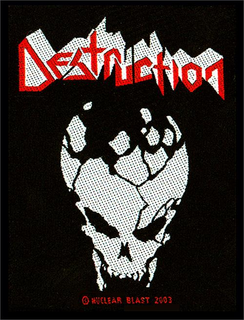 Destruction Sew On Patch Skull Logo