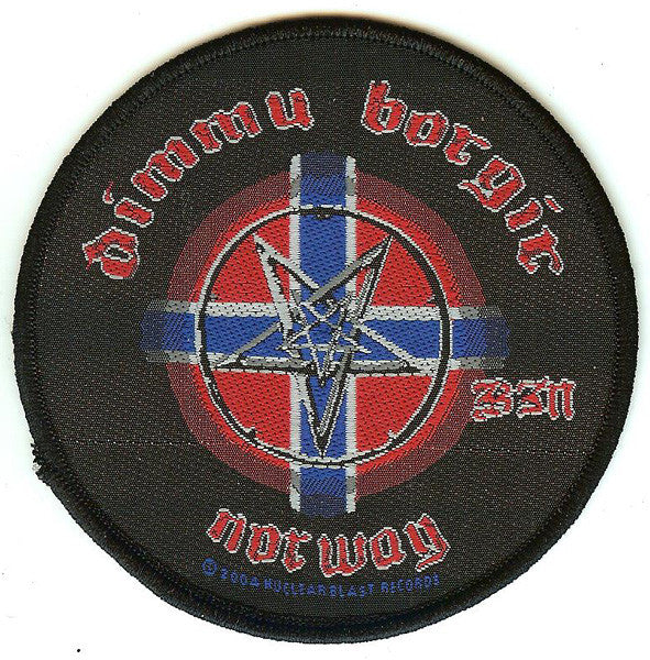 Dimmu Borgir Sew On Patch Round Norway Logo
