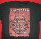Disturbed T-Shirt Believe Logo 2003 Tour Black Size Medium