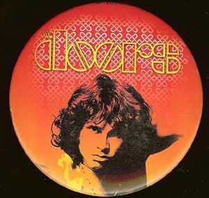 The Doors Round Button Magnet Jim Morrison
