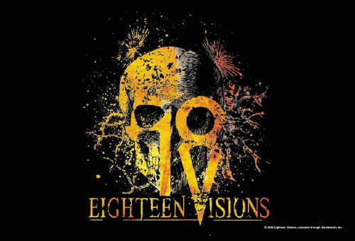 Eighteen Visions Poster Flag Root Skull Tapestry