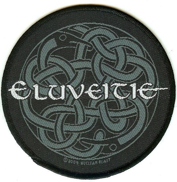 Eluveitie Sew On Patch Round Celtic Logo