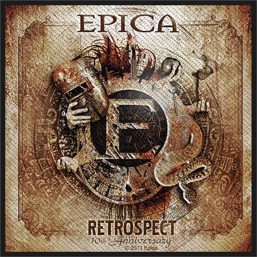 Epica Sew On Patch Retrospect 10th Anniversary Logo