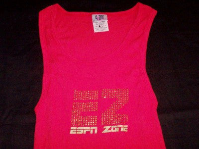 ESPN Zone Babydoll Tank Top Red Size Large