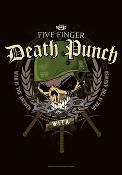 Five Finger Death Punch Poster Flag Warhead Tapestry