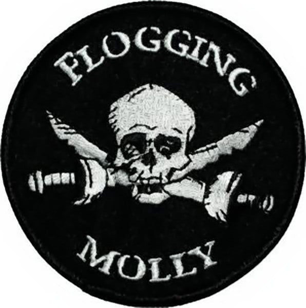 Flogging Molly Iron-On Patch Skull Swords Logo