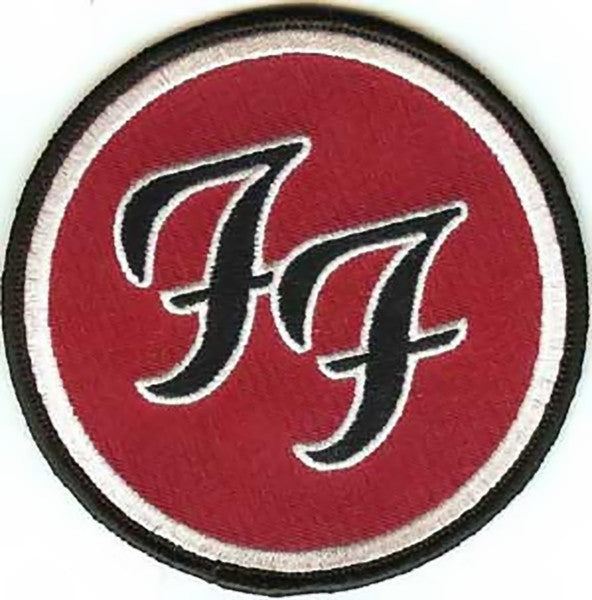 foo fighters ironon patch round ff logo � rock band patches