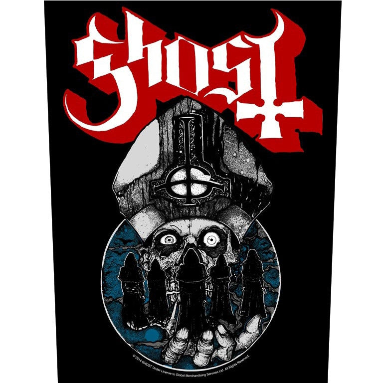 Ghost Sew On Canvas Back Patch Papa Warriors Logo