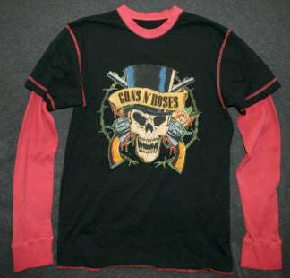 Guns n' Roses Long Sleeve Thermal T-Shirt Size Medium New