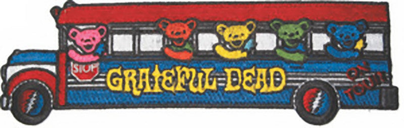 Grateful Dead Iron-On Patch School Bus Logo