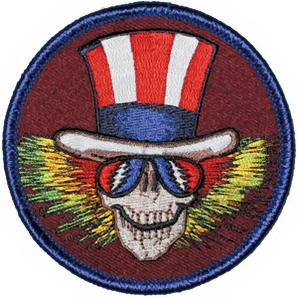 Grateful Dead Iron-On Patch Uncle Sam Circle Logo