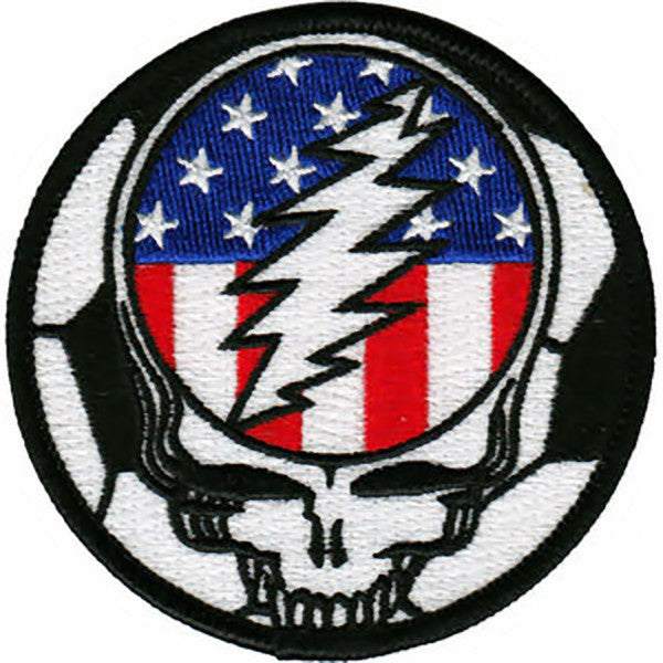 Grateful Dead Iron-On Patch Steal Your Face US Soccer