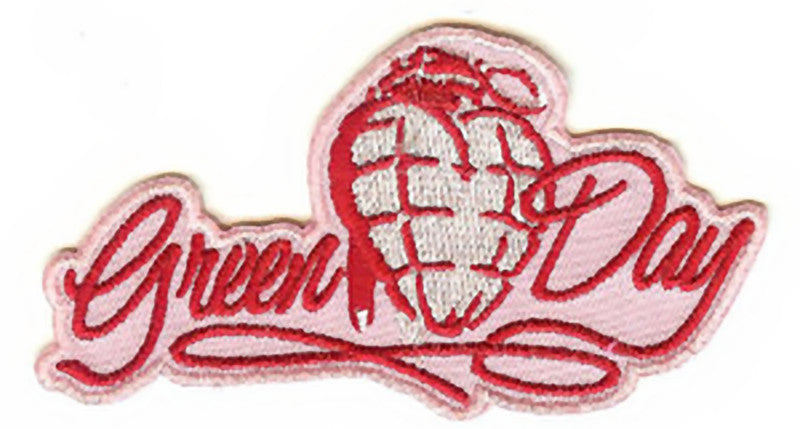 Green Day Iron-On Patch Red Grenade Logo