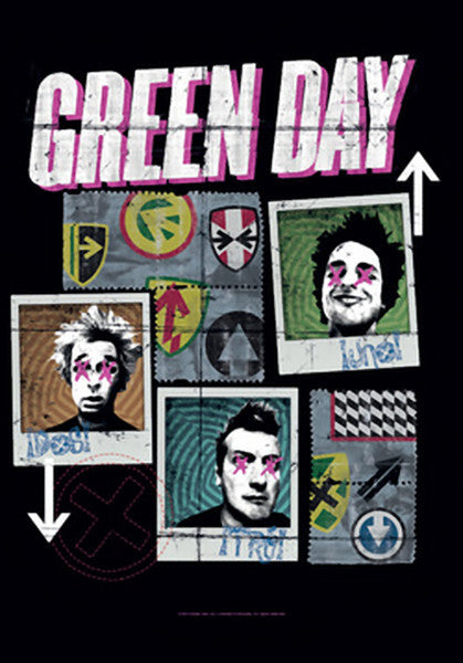 Green Day Poster Flag Uno Dos Tre Tapestry
