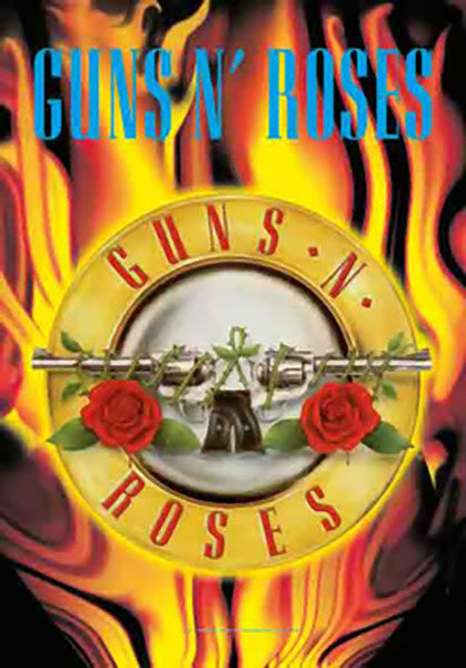 Guns n' Roses Poster Flag Circle Flames Tapestry