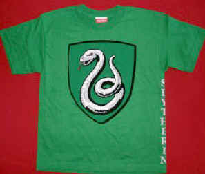 Harry Potter T-Shirt Slytherin Green Size Youth Large