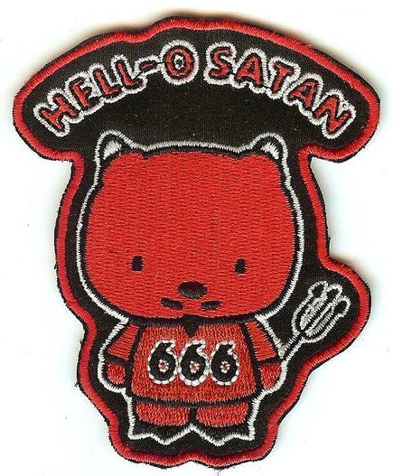 Hell-O Satan Iron-On Patch 666 Devil Logo