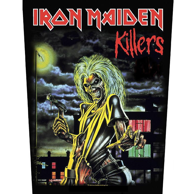 Iron Maiden Sew On Canvas Back Patch Killers Logo