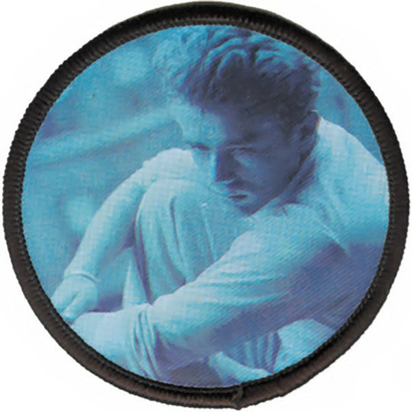 James Dean Iron-On Patch Round Close Up
