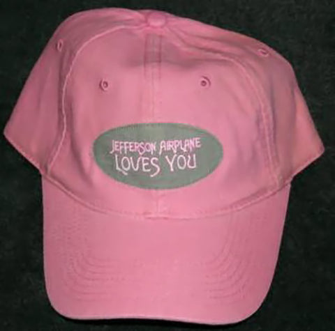 Jefferson Airplane Baseball Cap Hat Loves You Pink One Size
