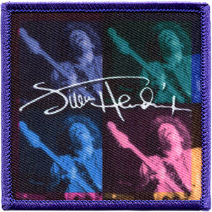 Jimi Hendrix Iron-On Patch Four Square Signature