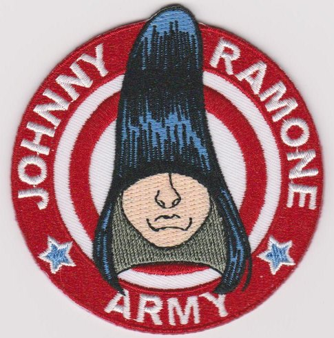 The Ramones Iron-On Patch Johnny Ramone Army Face Logo