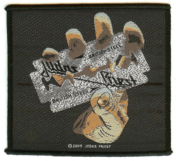 Judas Priest Sew On Patch British Steel Logo