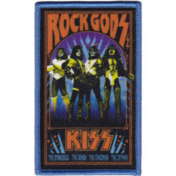 Kiss Iron-On Patch Rectangle Rock Gods Logo
