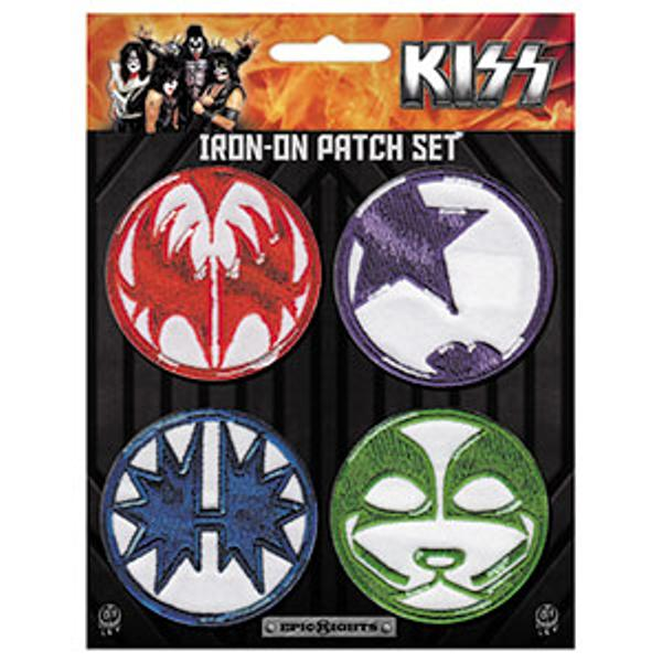 Kiss Iron-On Patches Mini Icons 4 Patch Set
