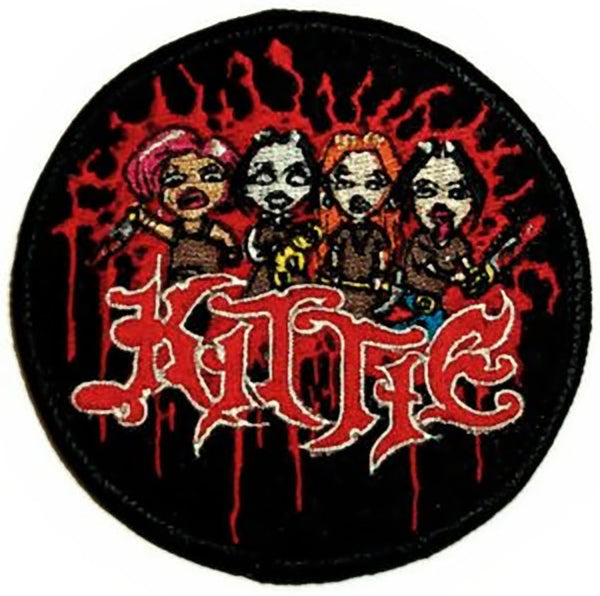 Kittie Iron On Patch Cartoon Logo Rock Band Patches