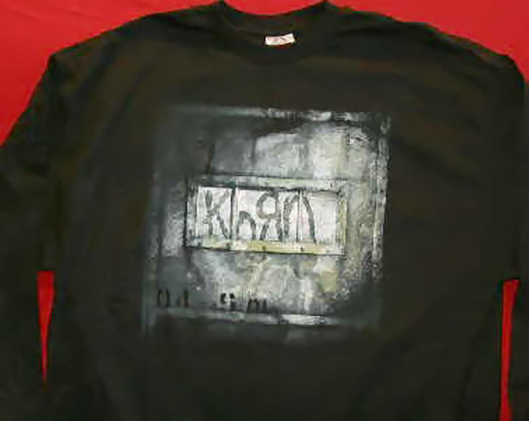 Korn Long Sleeve T-Shirt Cell Out Black Size XL New