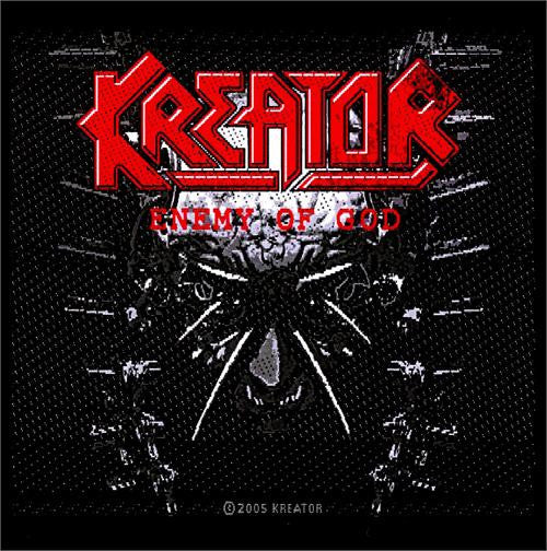 Kreator Sew On Patch Enemy Of God Logo