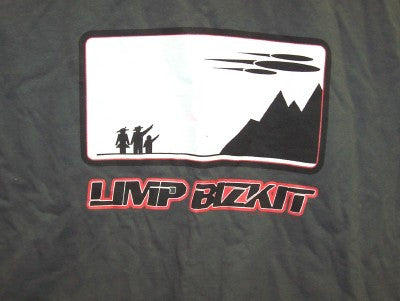 Limp Bizkit T-Shirt Space Ship Gray Size XL Concert New