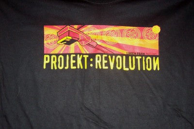 Linkin Park Projekt Revolution T-Shirt Black Size XL New