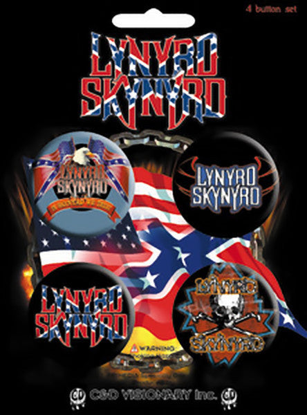 Lynyrd Skynyrd Four Button Pin Set