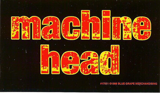 Machine Head Vinyl Sticker Flame Letters Logo Rock Band